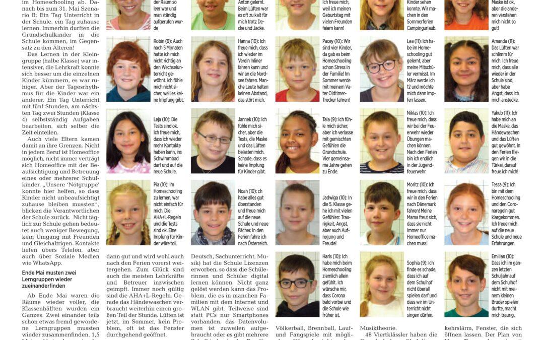 Pressebericht: Rückblick auf 1,5 Jahre Schule mit Corona
